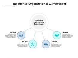 Importance Organizational Commitment Ppt Powerpoint Pictures Cpb