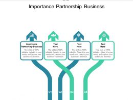Importance Partnership Business Ppt Powerpoint Presentation Professional Topics Cpb
