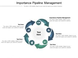 Importance Pipeline Management Ppt Powerpoint Presentation Infographics Tutorials Cpb