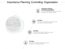 Importance Planning Controlling Organisation Ppt Powerpoint Presentation Inspiration Shapes Cpb