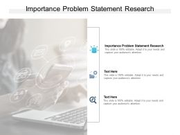Importance Problem Statement Research Ppt Powerpoint Presentation Slides Cpb
