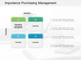 Importance Purchasing Management Ppt Powerpoint Presentation Model Picture Cpb