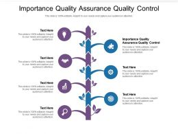 Importance Quality Assurance Quality Control Ppt Powerpoint Presentation Example 2015 Cpb