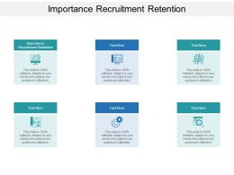 Importance Recruitment Retention Ppt Powerpoint Presentation Influencers Cpb