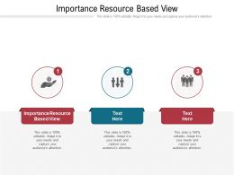 Importance Resource Based View Ppt Powerpoint Presentation File Smartart Cpb