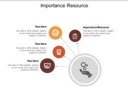 Importance Resource Ppt Powerpoint Presentation Gallery Design Templates Cpb