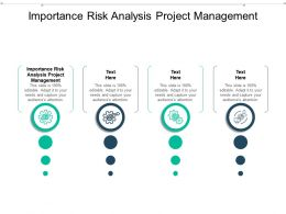 Importance Risk Analysis Project Management Ppt Powerpoint Presentation File Sample Cpb