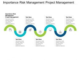 Importance Risk Management Project Management Ppt Powerpoint Presentation Outline Cpb