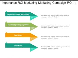 Importance Roi Marketing Marketing Campaign Roi Marketing Data Analysis Cpb