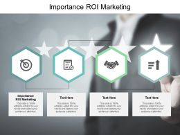 Importance ROI Marketing Ppt Powerpoint Presentation Outline File Formats Cpb