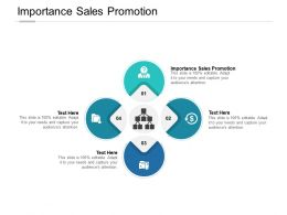 Importance Sales Promotion Ppt Powerpoint Presentation Portfolio Visuals Cpb