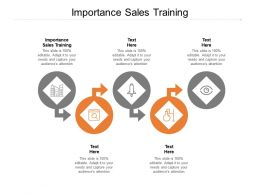 Importance Sales Training Ppt Powerpoint Presentation Tips Cpb