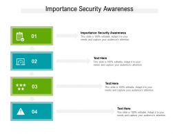 Importance Security Awareness Ppt Powerpoint Presentation Infographic Template Aids Cpb