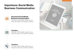 Importance Social Media Business Communication Ppt Powerpoint Outfit Cpb