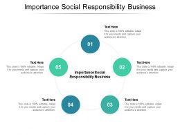 Importance Social Responsibility Business Ppt Powerpoint Presentation Portfolio Background Cpb