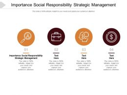 Importance Social Responsibility Strategic Management Ppt Powerpoint Presentation Infographic Cpb