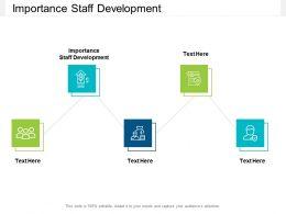 Importance Staff Development Ppt Powerpoint Presentation Infographics Cpb