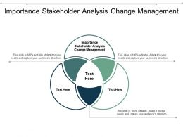 Importance Stakeholder Analysis Change Management Ppt Powerpoint Presentation Portfolio Cpb