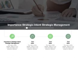 Importance Strategic Intent Strategic Management Ppt Powerpoint Presentation Infographic Cpb