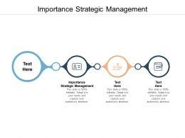 Importance Strategic Management Ppt Powerpoint Presentation Infographics Gridlines Cpb