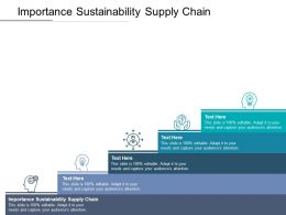 Importance Sustainability Supply Chain Ppt Powerpoint Presentation File Professional Cpb