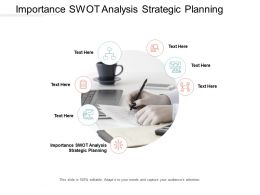 Importance SWOT Analysis Strategic Planning Ppt Powerpoint Presentation Gallery Portrait Cpb