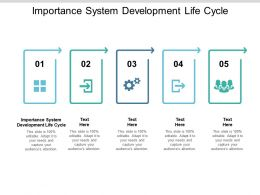 Importance System Development Life Cycle Ppt Powerpoint Presentation Icon Outfit Cpb