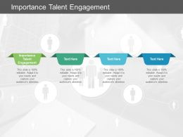 Importance Talent Engagement Ppt Powerpoint Presentation Styles Cpb