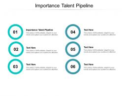 Importance Talent Pipeline Ppt Powerpoint Presentation Images Cpb