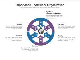 Importance Teamwork Organization Ppt Powerpoint Presentation Gallery Show Cpb