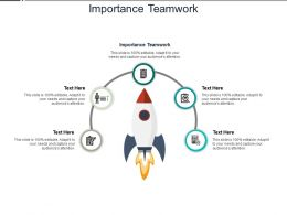 Importance Teamwork Ppt Powerpoint Presentation Model Summary Cpb