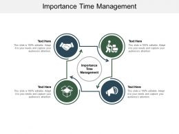 Importance Time Management Ppt Powerpoint Presentation Ideas Vector Cpb