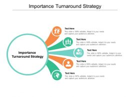 Importance Turnaround Strategy Ppt Powerpoint Presentation Model Graphics Cpb