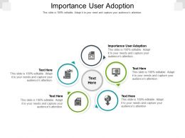Importance User Adoption Ppt Powerpoint Presentation Portfolio Slide Cpb