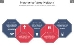 Importance Value Network Ppt Powerpoint Presentation Slides Professional Cpb