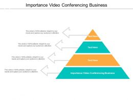 Importance Video Conferencing Business Ppt Presentation Pictures Examples Cpb