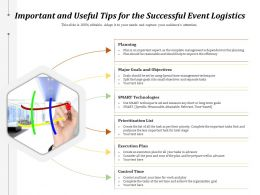 Important And Useful Tips For The Successful Event Logistics