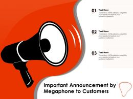 Important Announcement By Megaphone To Customers