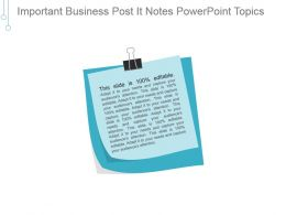 Important Business Post It Notes Powerpoint Topics