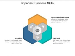Important Business Skills Ppt Powerpoint Presentation Portfolio Examples Cpb