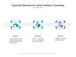 Important Elements For Career Guidance Counseling