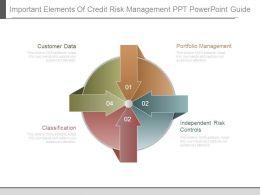 Important Elements Of Credit Risk Management Ppt Powerpoint Guide