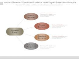 Important Elements Of Operational Excellence Model Diagram Presentation Visual Aids