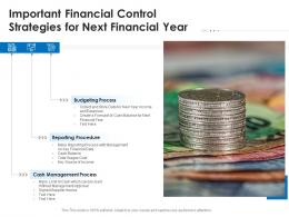 Important Financial Control Strategies For Next Financial Year