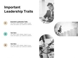 Important Leadership Traits Ppt Powerpoint Presentation Show Cpb