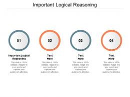 Important Logical Reasoning Ppt Powerpoint Presentation Icon Background Designs Cpb