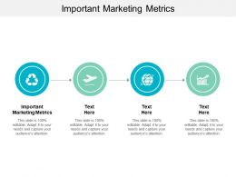 Important Marketing Metrics Ppt Powerpoint Presentation Pictures Templates Cpb