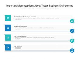 Important Misconceptions About Todays Business Environment