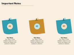 Important Notes Adapt Editable Ppt Powerpoint Presentation Visual Aids Styles