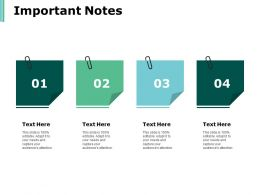 Important Notes Business Ppt Powerpoint Presentation Infographics Ideas